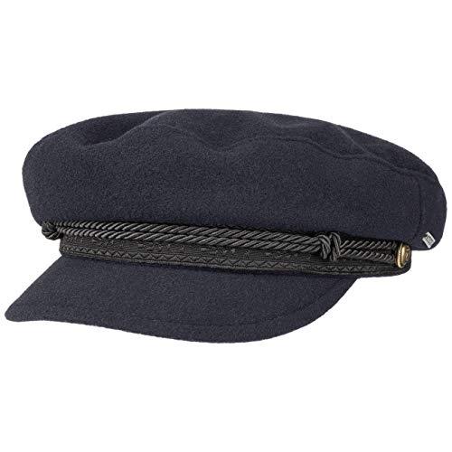 Stetson Wool Cashmere Riders Cap Elbsegler Wollcap Ballonmütze Newsboy-Mütze Baker-Boy-Mütze Damen - Made in Italy mit Schirm, Futter, Futter Herbst-Winter - S (54-55 cm) dunkelblau