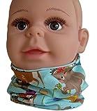 Nordic Child Halssocke Loop für Kinder, Kids Loop, Halssocke, Kids Schlauchschal, Schal Tuch für Kinder Handmade (98/140, Waldtiere)