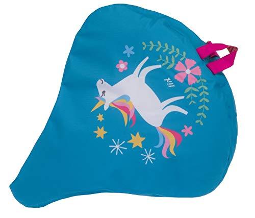 Liix Sattelbezug Happy Unicorn wasserdichte Einhorn Satteldecke für alle Sattel geeignet