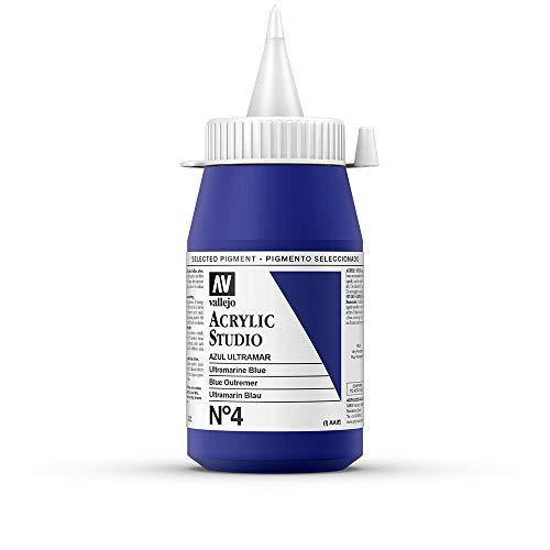 Vallejo - Colores acrílicos vallejo studio 500ml, color azul ultramar