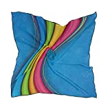 Soft Polyester Silk Square Scarf Fashion Print Colorful Bright Ribbon Hair Night Scarf Scarf Head Wrap Scarfs For Women Lightweight Multiple Ways Of Wearing Daily Decor