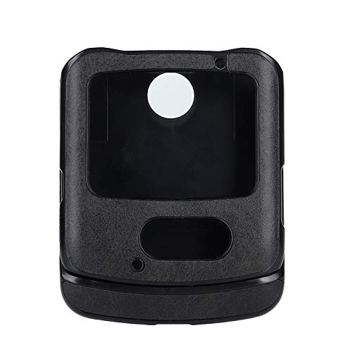 DAMONDY Schutzhülle für Motorola Razr 5G, dünn, PU-Leder, Vintage, stoßfest, leicht, weich, TPU, harte Polycarbonat-Hybrid-Schutzhülle für Motorola Razr 5G 2020, Schwarz