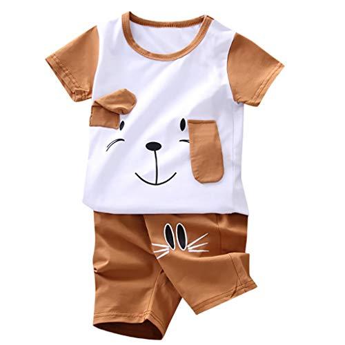 Kleinkind Jungen Karikatur Bär T-Shirt Tops + Shorts Outfits Einstellen