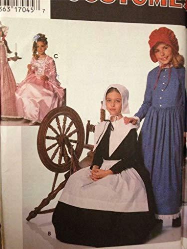 Simplicidad Disfraces 9708–tamaño a S, M, L, Puritano y del Centenario de la del niño y niña Disfraces de Siglo XVIII y XIX.