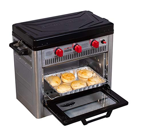 Camp Chef Outdoor Camp Oven with Thermostat, Insulated Oven Box, Matchless Ignition - Stainless Steel (Covent)