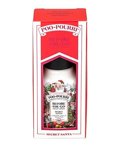 Poo-Pourri Before-You-go Toilet Spray, 2 Fl Oz Secret Santa Scent (Gift Box)