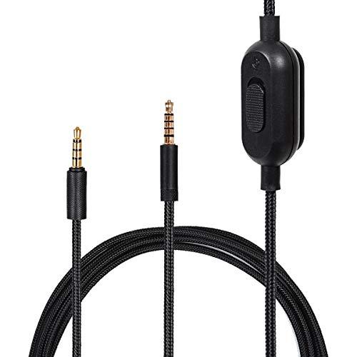 Xingsiyue Ersatz Kabel für Logitech G433/G233/G Pro/G Pro X/HyperX Cloud Alpha/Cloud Mix/PS4/Xbox One/Nintendo Switch - Lautstärkeregler Schnur mit/Stumm Funktion