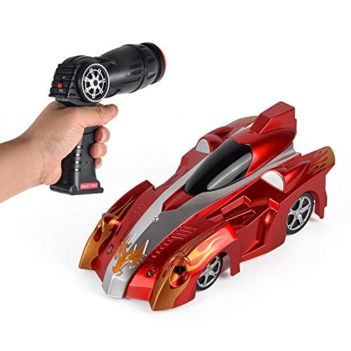 HSPHFX Super Crawlers Wall Driving RC Coche, Rodado de 360 grados Rotate en la pared, Hero Man Wall Chase Infrared Light Toy Funny Game Automóvil, Adsorción Sticky Suspension Wall Vehicle