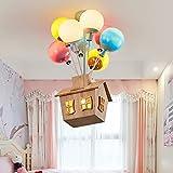 PINFU Lámpara Colgante de Globo de luz de Techo para Dormitorio Infantil, lámpara Colgante de luz de Dibujos Animados para niños y niñas, candelabro de Princesa para jardín de Infantes