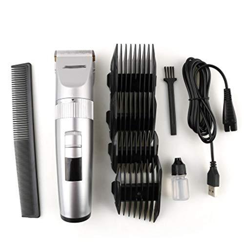 MISS YOU Tondeuses à Cheveux Nouvelle Batterie au Lithium Fader de tête de Rasage de la tête de Couteau en céramique Tondeuse électrique Costume de Coupe de Famille (Color : A)