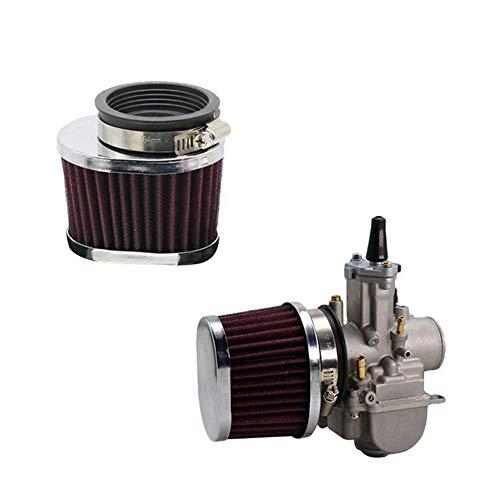 Filtro de Aire de Motocicleta Accesorios de Repuesto de Malla de Acero de Tecnología CNC Filtro de Entrada de Aire Filtro de Entrada de Aire Ovalado 55 55 60 mm (55 mm)