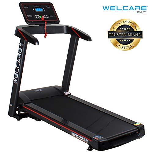 WELCARE WC2233 2.5Hp Peak DC Motor Motorized Folding Treadmill with LCD Display & 12 Preset Programs