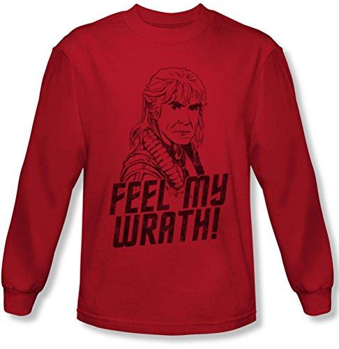 Star Trek - - Ma colère à manches longues pour hommes T-shirt, Large, Red