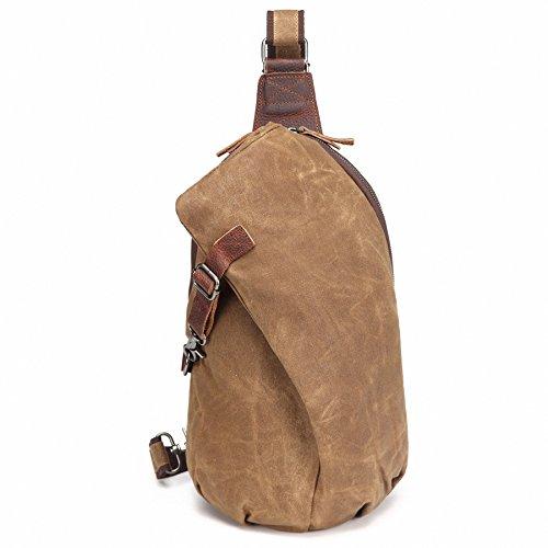AOTIAN Unisex Zaino Monospalla impermeabile La Ceretta Tela Borsa a Spalla Sling Bag Chest Bag