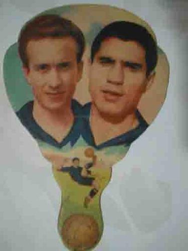 PAI- PAI antiguo de publicidad, fotos futbolistas: GAINZA (Barcelona), BASORA (Bilbao)