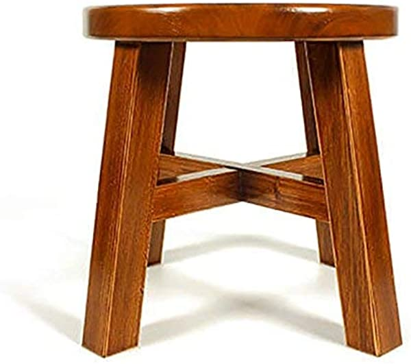 PLLP Household Step Stool Photography Folding Step Stool Stool Wooden Bench Multifunction Footstool Round Small Living Room Adult Child Fashion Sofa