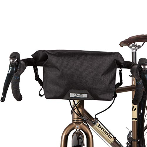 Two Wheel Gear Dayliner Mini Roll Top Handlebar Bag - Water Resistant Bag with Shoulder Straps Included, Black 3L