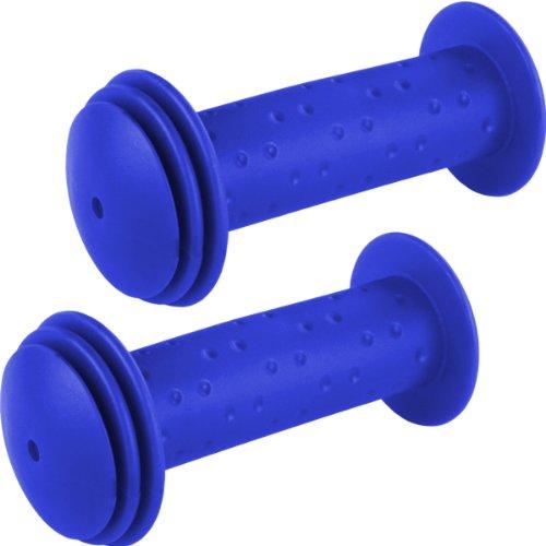 1 Paar Kinder-Fahrradgriffe mit Prallschutz in blau