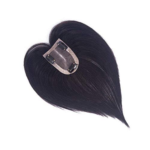 Lace Topper Cheveux Brésilienne Cheveux à clips Remplacement Supérieure Toupee à Pince pour les Femmes avec Cheveux Clairsemée et Blanc 7 * 11CM 6Inch