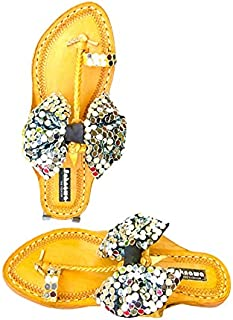 Mirror Bow Kolhapuri by Pehnawa The Fashion