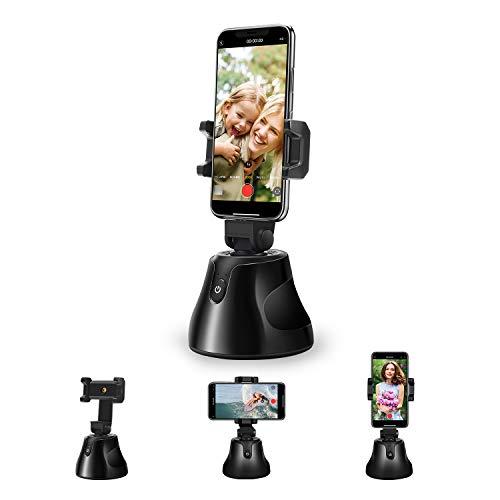 Erasky Gimbal Stabilisator Smartphone Gimbal Stabilizer 360 Rotation Handy Ständer Verstellbar Auto Tracking Smart Shooting,Smart AI Gimbal Persönlicher für Vlog Live-Videoaufzeichnung