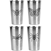 4-Pack Magic Pine Stainless Pint Cups