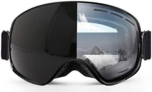 Giow Skibrille Skibrille UV-Schutz Snowboard für Allwetter Herren Damen Big Spherical Mask