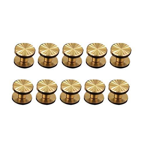 Rebites de couro de metal Exceart 10 pçs rebites rebites rebites rebites rebites parafusos decorativos para bolsa jeans, artesanato, costura de couro, acessórios para sacos de roupas sapatos (10 x 4 x