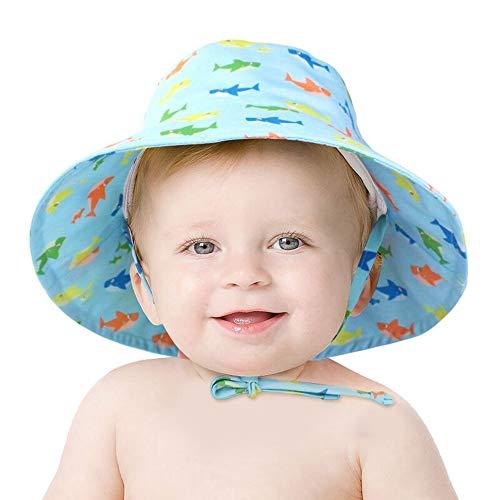 ZHANGYAN Sombrero de Sol para niños Sombrilla de Sol para niños y a Prueba de Sol a Prueba de Sol, Sombrero de Pescador a Prueba de Sol Ajustable de Verano