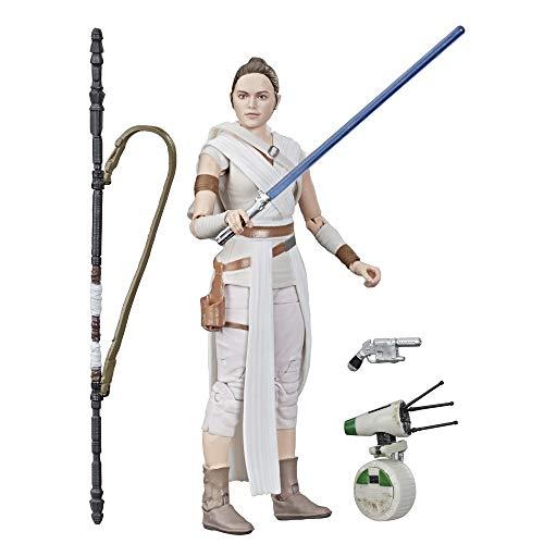 Hasbro Star Wars E4077ES0 Star Wars The Black Series Rey und D-O 15 cm große Action-Figuren zum Sammeln, Spielzeuge für Kids ab 4 Jahren