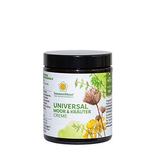 Sonnenmoor Universal Moor- & Kräutercreme - Salbe zur Pflege von Haut und Gelenken - Naturkosmetik mit Arnika und Rosskastanie - erhältlich in 500g, 140g und 90g (140 Gramm)