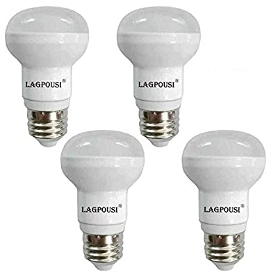 lagpousi (4 Pack) R14(R16) 120V 5W Cool White Non-Dimmable LED Flood Bulbs, E26 Base, 40W Incandescent Bulbs Equivalent, FCC Listed, CRI?80,400lm,5500K.