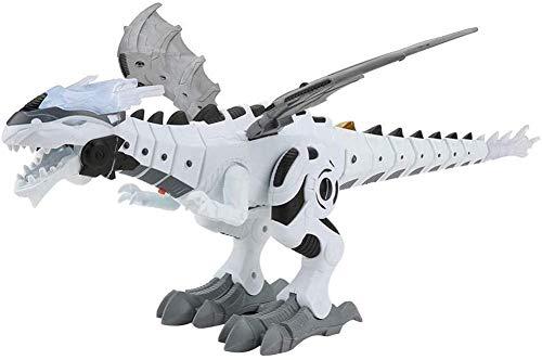HAIJIN Robot De Rociado De Niebla Juguete De Dragón, Juguete Híbrido De Dinosaurio Y Dragón Que Camina, Juguete De Dragón Que Camina Dinosaurio De Rociado De Agua para Respirar Fuego (Blanco)