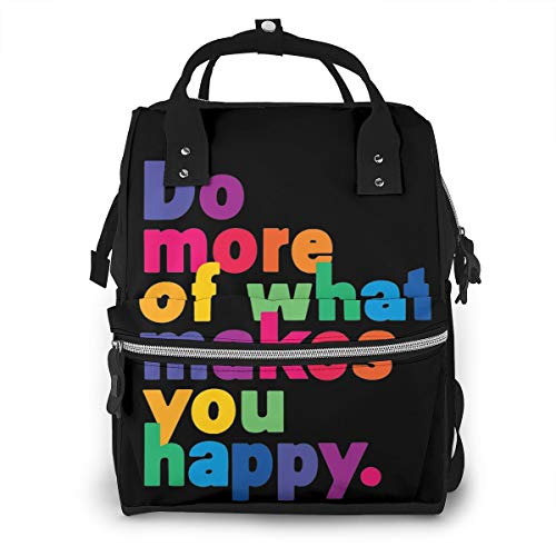 Iop 90p Do More of What Makes You Happy Multi Function Travel Mummy Backpack Diaper Bag Shoulder Bag