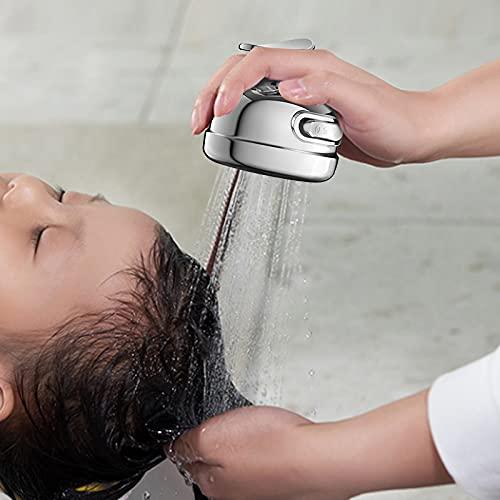 2-in-1 Three-Speed Adjustment Bathroom Shower Head Adjustable Shower Head,High Pressure Shower Head Handheld Spray (Gray)
