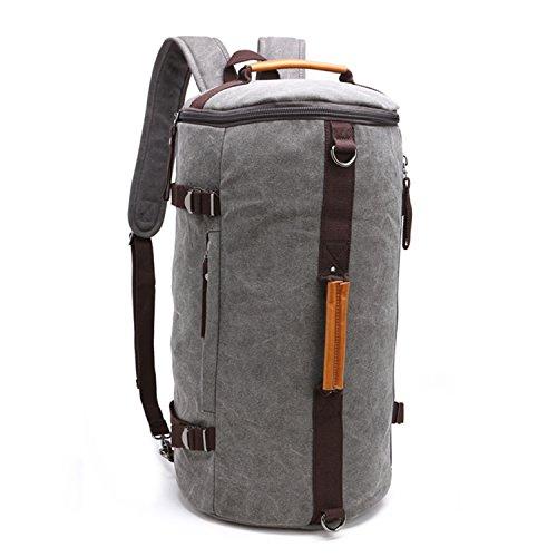 Fresion Cylinder Canvas Backpack Large Capacity Rucksack...