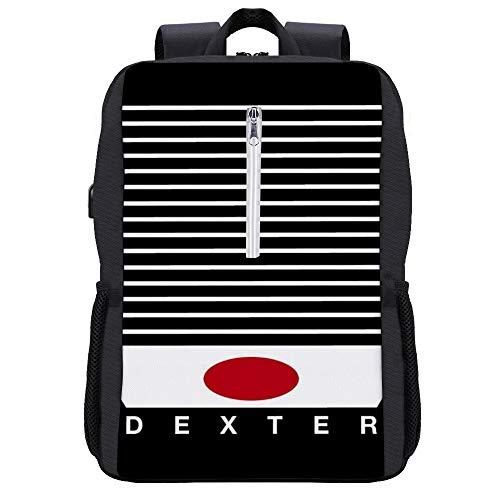 Dexter Blood Slides Minimal Backpack Daypack Bookbag Laptop School Bag with USB Charging Port