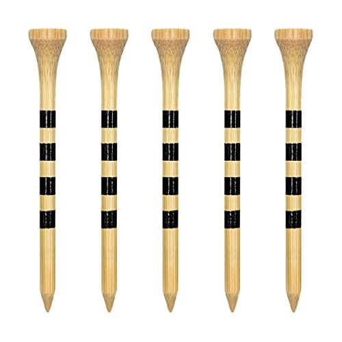 Zivisk Tee Golf Legno 54mm, 100 Pezzida Tee da Golf in bambù 2-1/8 Pollici(2-1/8',Colore Naturale)
