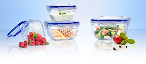 Original Click´n Store Frischhaltedosen-Set 4tlg. #802320 / 100% luft- und wasserdicht / hitze- und kältebeständig