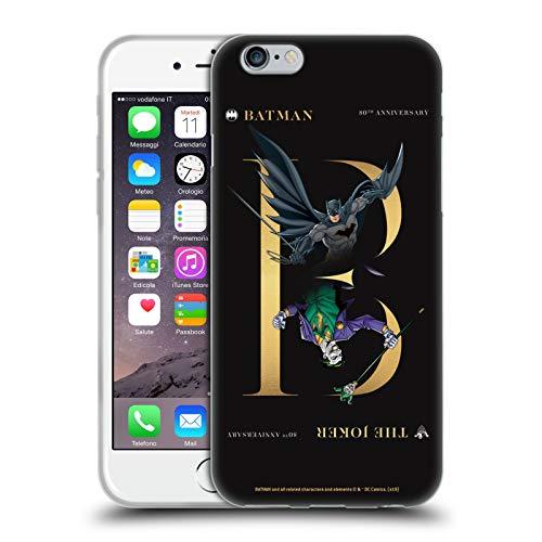 Head Case Designs Oficial Batman DC Comics Rivalidad del Guasón 80 Aniversario Carcasa de Gel de Silicona Compatible con Apple iPhone 6 / iPhone 6s