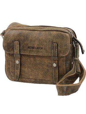 Arthur & aston - Sacoche bandoulière en cuir vachette ref_ast28317-b