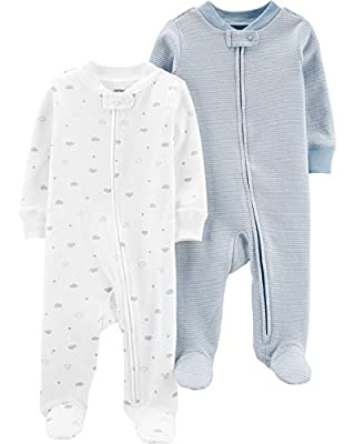 Carter's 2-Pack Zip-Up Cotton Sleep & Plays (Newborn)