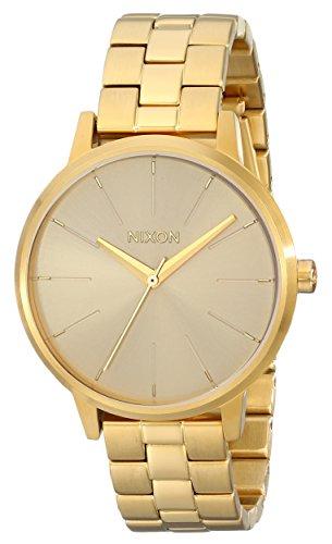Nixon Womens Kensington Japanese quartz Stainless Steel watches All Gold A099