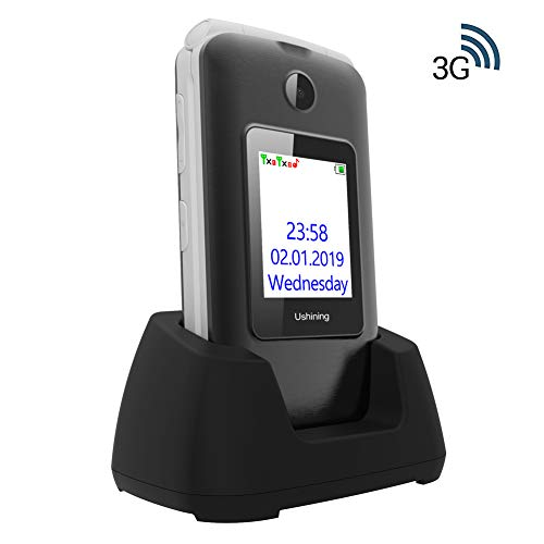 Ukuu 3G Klapphandy Senioren mit Großen Tasten und ohne Vertrag 2,8