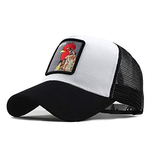 DOLDOA Hut Damen Sommer,Unisex Outdoor Baumwolle Hochwertige Tier Bestickte Baseball Caps Einstellbar (Grau)