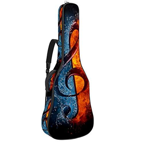 Gitarren-Gigbag, wasserdicht, Reißverschluss, weich, für Bassgitarre, Akustik- und klassische Folk-Gitarre, Tasche für Feuer und Wasser