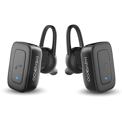 MindKoo Wireless Bluetooth Earbuds Headphones - Truly Wireless Stereo Earphones w Mic Hands-Free Calls for iPhone X/8 8 Plus/7/Android, Sweatproof for Sport, Gym, Running
