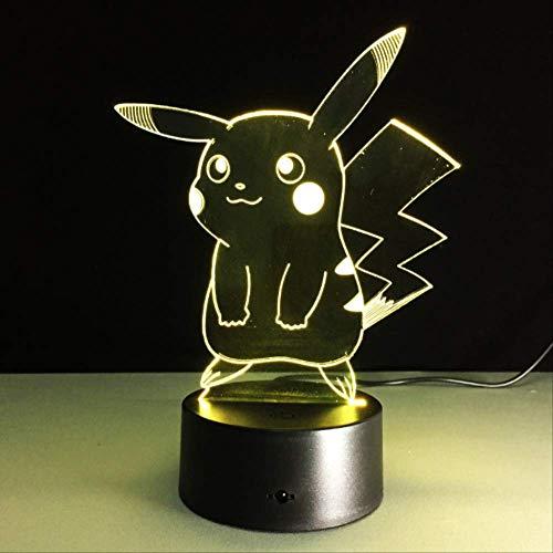 Pokemon Go Action Figure 3d Illusion Nachtlicht Ändern Tischlampe Fabrik 16 farben