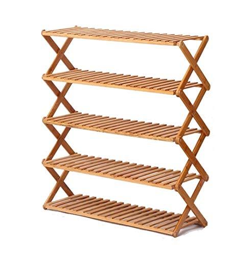 JIADUOBAO Zapatero de varios pisos para el hogar, zapatero simple, ajustable vertical (tamaño: 60 cm)