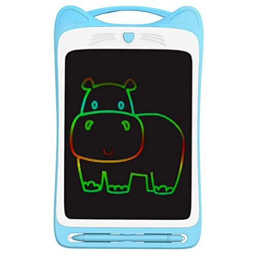 Hrsptudorc 12 Zoll Bunte Kleinkind Zeichnung Doodle Board Kinder Scribbler Board L?Schbare Schreib Tafel LCD Zeichen Bl?Tter Blau